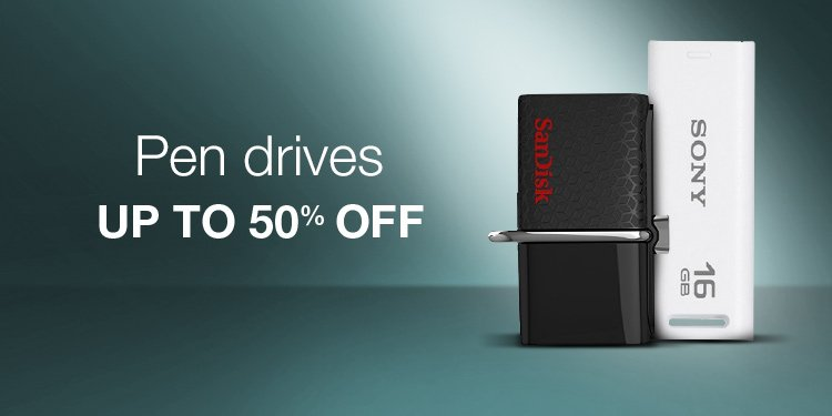 Up to 50% Off Pen Drives