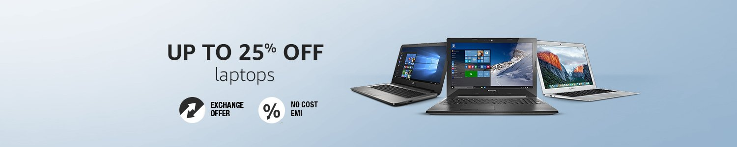 Up to 25% off Laptops