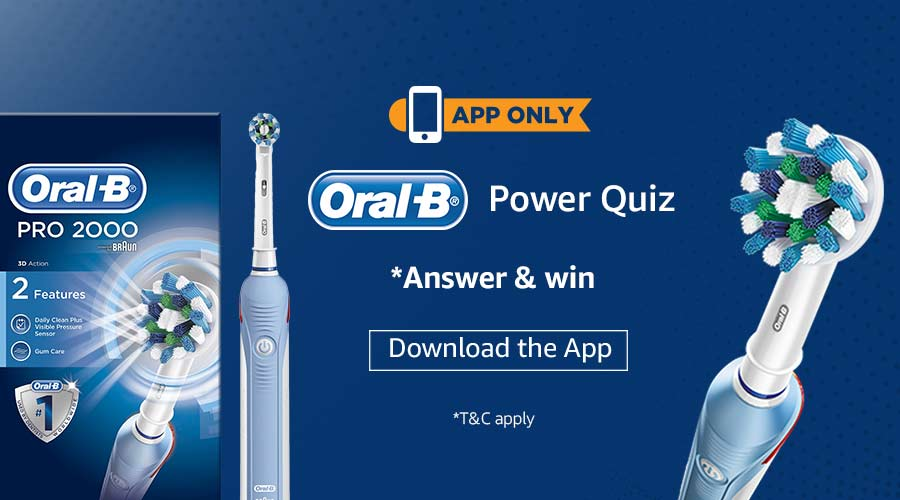 oral b power quiz answer win oral b pro 2000 electric toothbrush free stuff contests. Black Bedroom Furniture Sets. Home Design Ideas