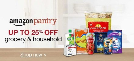 Amazon Pantry Upto 25% OFF Grocery & Household Products