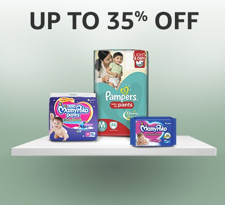 Up to 35% off: Diapers & Wipes