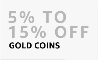 Gold coins : 5% to 15% off