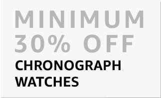 Chrono watches : min. 30% off