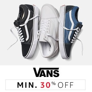 Vans: Minimum 30% off