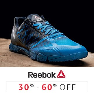 Reebok: 30% to 60% off