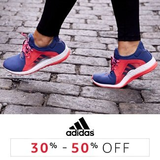 Adidas: 30% to 50% off