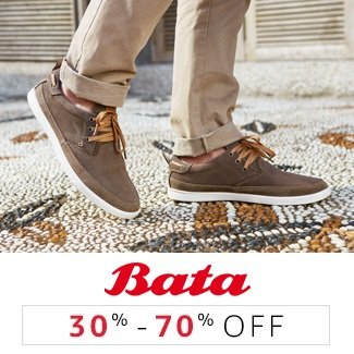 Bata: 30% to 70% off