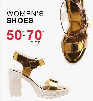 Women's shoes : 50% to 70% off