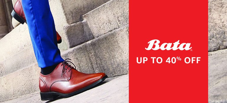 Bata: Up to 40% off