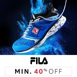 Fila: Minimum 40% off