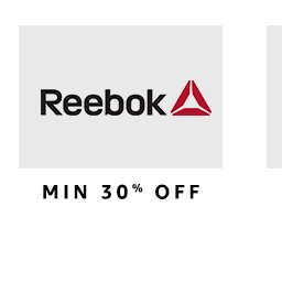 Reebok: 30% to 50% off