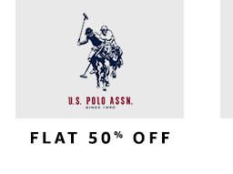 US Polo : Flat 50% off