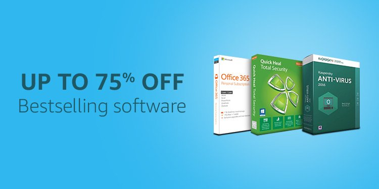 Up to 75% off bestselling software