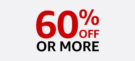 60% off or more