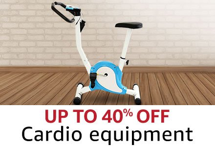 Up to 40% off  cardio equipment