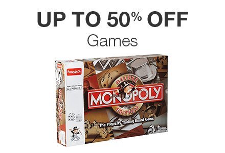Upto 50% off : Games