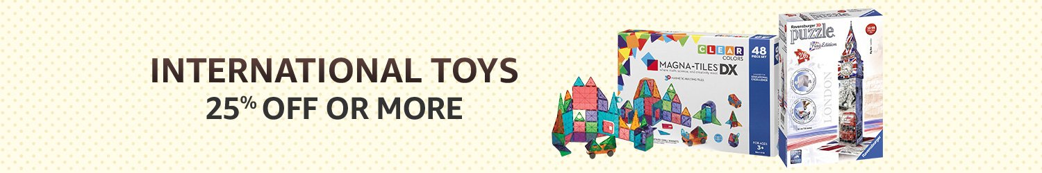 Internation Toys : 25% off or more