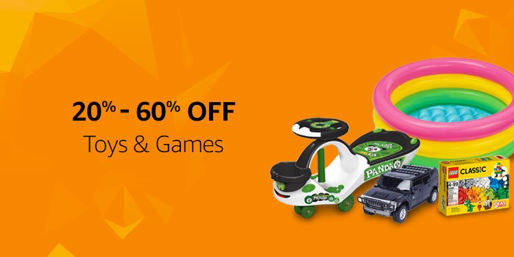 20%-60% off :Toys and Games