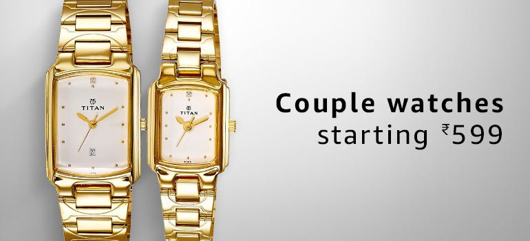 Couples Watches starting at Rs.599