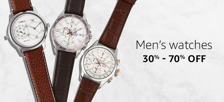 Men's Watches : 30% - 70% Off.