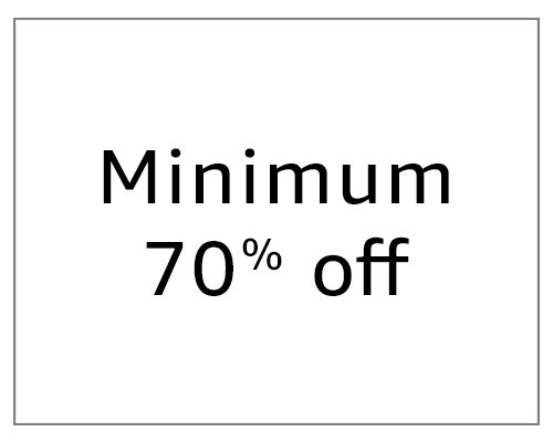 Minimum 70% Off