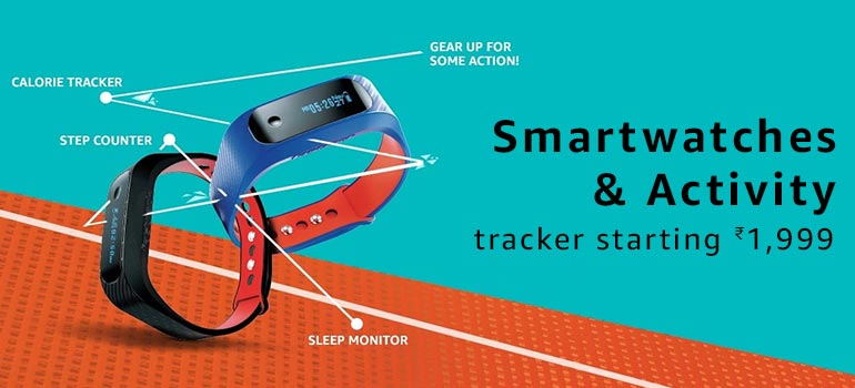 Smartwatches & Activity Trackers starting at Rs.1999