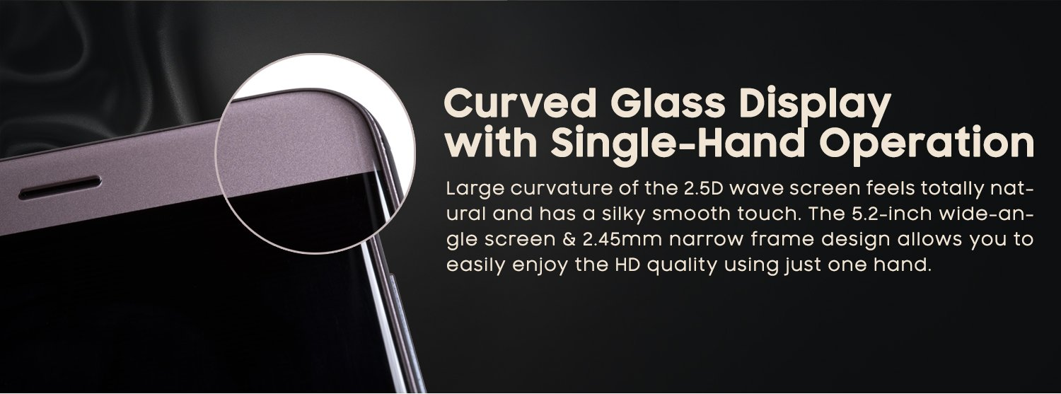 Curved glass display
