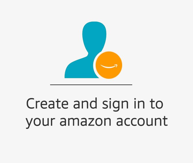Create and sign into Amazon account