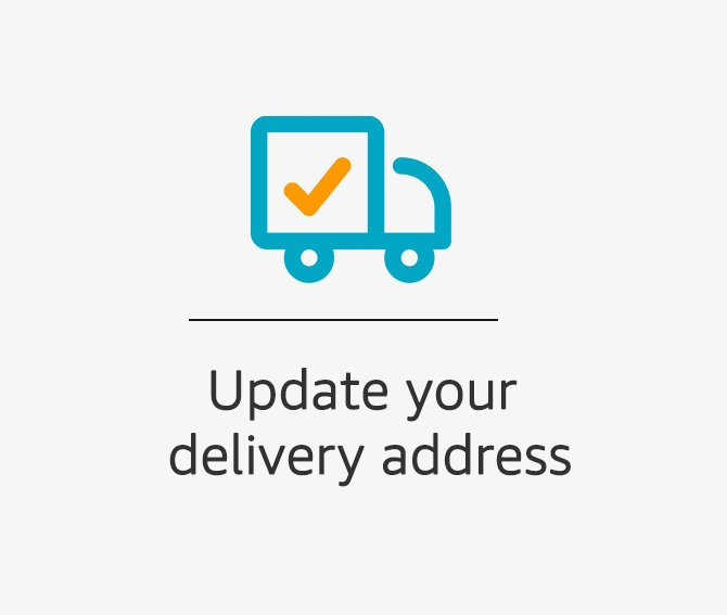 Update your delivery address