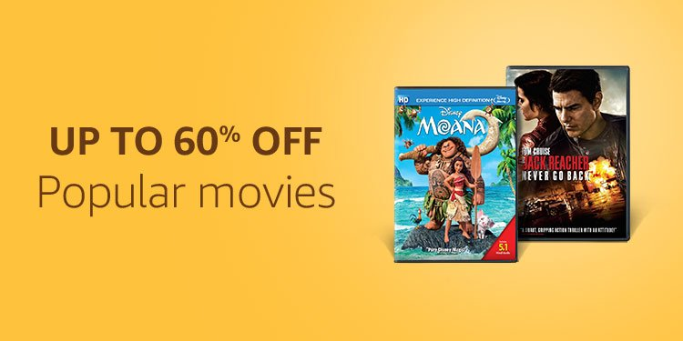 Up to 50% off movies