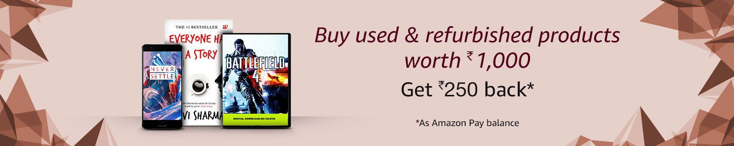 Buy used products & get Rs.250 back