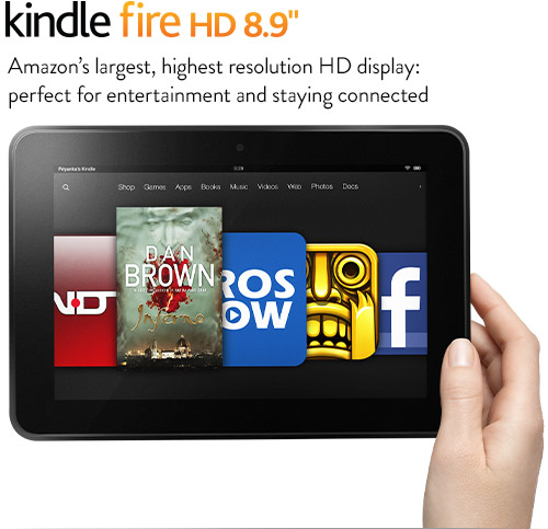 "Kindle Fire HD 8.9"" Tablet"