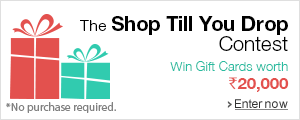 Enter for a chance to win Gift Cards worth Rs.20,000!