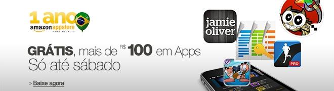 Grátis, mais de R$ 100 em apps, só até sábado. Aniversário de 1 Ano da Amazon Appstore. Baixe agora.