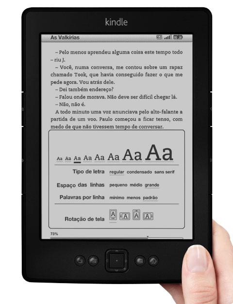 Com livros digitais, Amazon inicia operação no Brasil Feature-reading._V401138318_