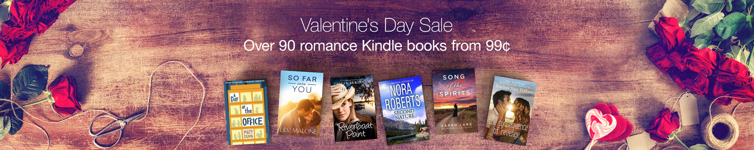 Valentine's Day Sale - Romance Kindle eBooks from 99¢