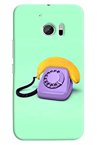 Omnam Vintage Telephone Painted Printed Designer Back Cover Case For HTC 10