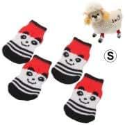 Cute Panda Pattern Cotton Non-slip Pet Socks,Size: S