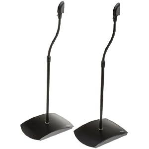 AmazonBasics - Soportes de pie para altavoces satélite (1 par), color negro