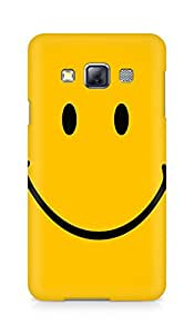 AMEZ designer printed 3d premium high quality back case cover for Samsung Galaxy A3 (yellow wide smile)