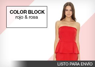 Color block: rojo y rosa!