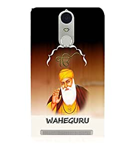 Fuson Premium Wahe Guru Printed Hard Plastic Back Case Cover for Lenovo K5 Note