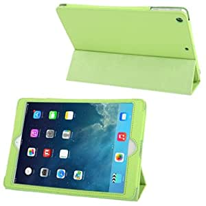 Crazy4Gadget 3-folding Leather Case with Holder for iPad Air (Green)