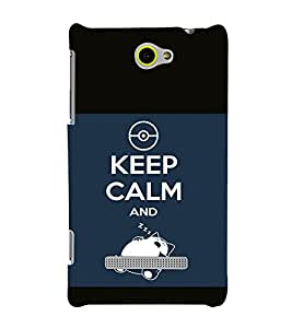 printtech Snorlax Cartoon Keep Calm Quote Back Case Cover for HTC Windows Phone 8S