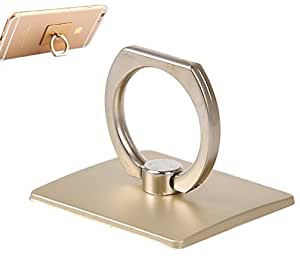 KARP Smart Ring Stand Holder/Mobile Phone Ring Stent/Anti-theft Clasp/Anti-drop/360 Degree Rotating Metal Ring Holder Mobile Phone Stand for Apple Iphone 6s Plus, 6S, 6 Plus, 6, iPad, Samsung, Microphone, HTC & Other Smartphones (Gold)
