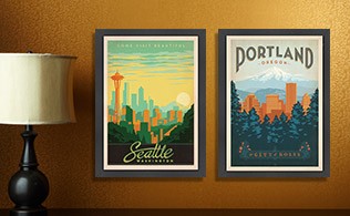 Retro-Inspired Posters by Joel Anderson