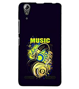 PRINTSHOPPII MUSIC Back Case Cover for Lenovo A6000