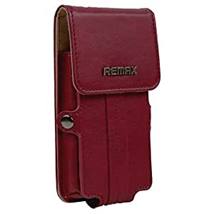 Brain Freezer Remax Pedestrian Series Leather Pouch Holster Case For Nokia Asha 210 Red