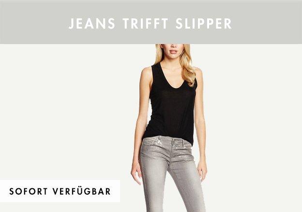 Jeans trifft Slipper bis zu -82%!