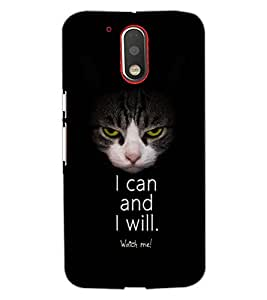 PrintDhaba I CAN AND I WILL D-7100 Back Case Cover for MOTOROLA MOTO G4 (Multi-Coloured)
